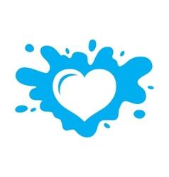 Love milk sign vector