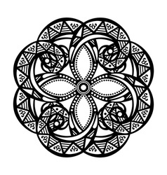 Deco symmetrical circle design vector