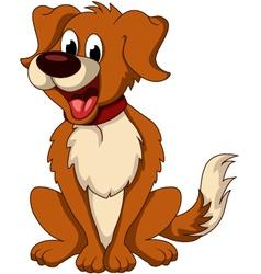Cute dog cartoon sitting vector