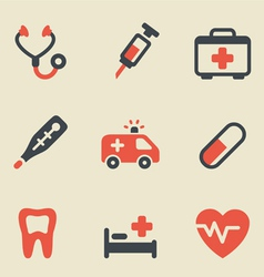 Medical black and red vector
