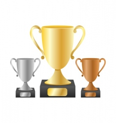 Trophy cups vector