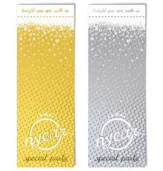 Sparkling metal ticket for christmas party vector