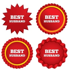 Best husband sign icon award symbol vector