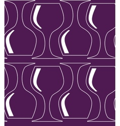 Vintage seamless pattern with red wine glass vector