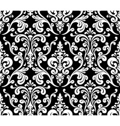 Seamless elegant damask pattern black and white vector