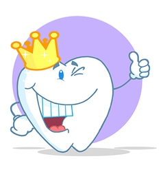 Crowned tooth character vector