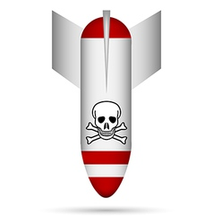 White poison bomb vector