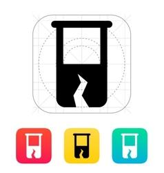 Broken test tube icon vector