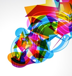Stylish abstract layout vector