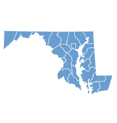 State map of maryland by counties vector