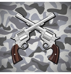 Crossed revolvers vector