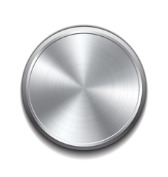 Realistic metal button vector