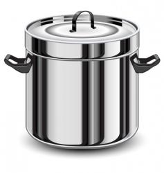 Silver pan vector