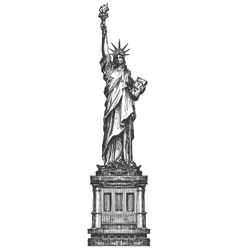 Statue of liberty logo design template america or vector