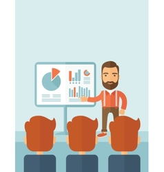 Business presentation vector