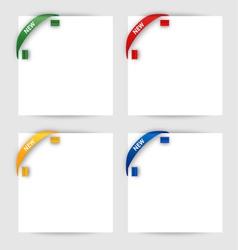 New corner ribbon on a white paper vector