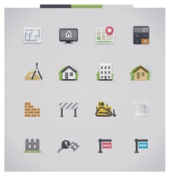Architecture icon set vector