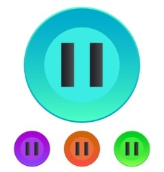 Pause icon vector