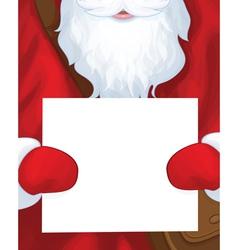 Santa postman blank vector