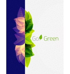 Spring  summer green leaves nature background vector