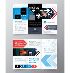 Tri fold brochure flyer design layout template vector