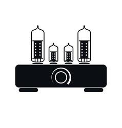 Tube amplifier icon vector