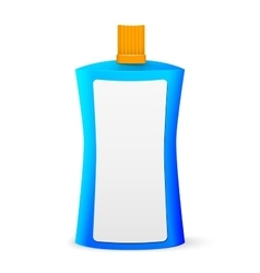 Cosmetic or hygiene blue lid plastic bottle of gel vector
