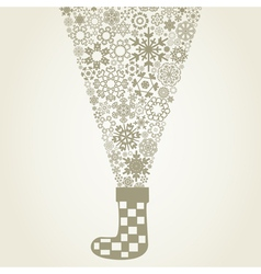Sock christmas vector