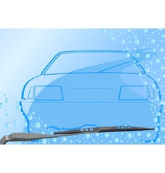Automotive windshield and the car vector