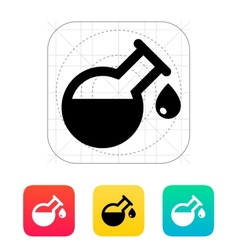 Drop from florence flask icon vector