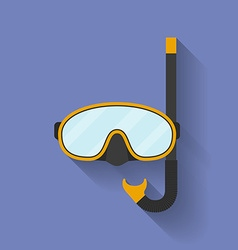 Icon of diving mask flat style vector