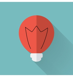 Flat lamp icon over mint vector