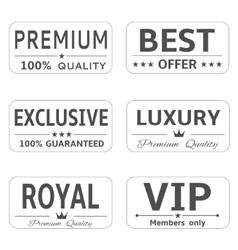 Minimalistic luxury labels vector