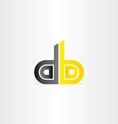 Letter d and b business icon vector