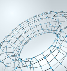Wireframe polygonal element 3d torus with diamonds vector