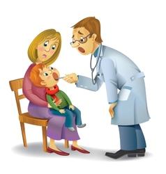Family doctor vector
