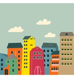 Retro houses vector