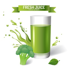 Fresh juice background vector