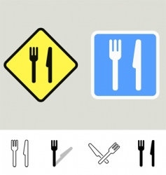 Dining signs vector