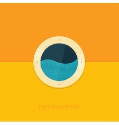 Round porthole vector