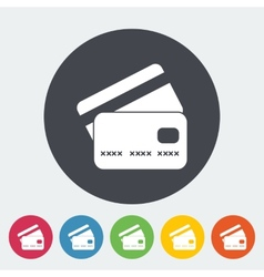 Credit card flat single icon vector