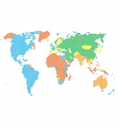 Dot style world map vector