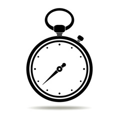 Stopwatch black icon vector