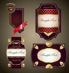 Royal labels set vector