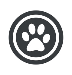 Round black paw sign vector
