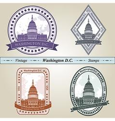 Vintage stamp washington dc vector