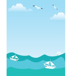 Sea or ocean landscape vector