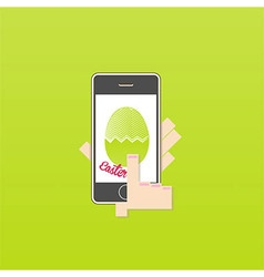 Phone on easter vector