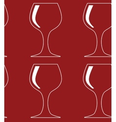 Seamless pattern with red glass silhouettes vector