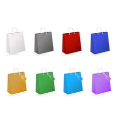 Colorful shopping bag collection vector